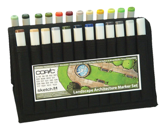 Copic Sketch Marker 24 Color Landscape Architecture Wallet