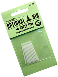 Copic Replacement Nib, Super Fine, Pack of 10