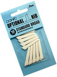 Copic Replacement Nib, Standard Broad, Pack of 10