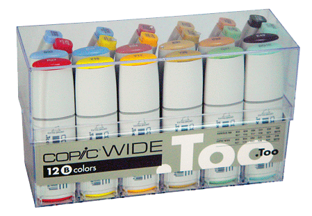Copic Wide Marker 24 Color Set B