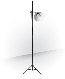 Daylight Artist Studio Lamp + Stand, Satin Silver