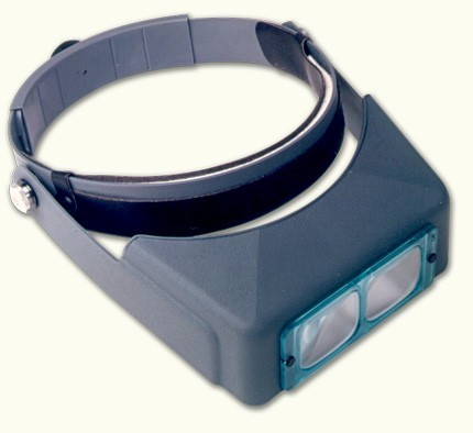 Donegan Optical OptiVISOR with Lens Plate - Magnifies 1-1/2X at 20