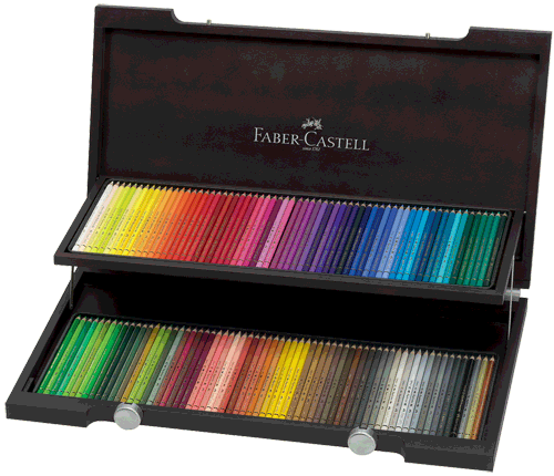 Faber-Castell Polychromos Artists Colored Pencil Wood Case Gift Set of 120
