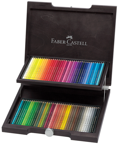 Faber-Castell Polychromos Artists Colored Pencil Wood Case Gift Set of 72