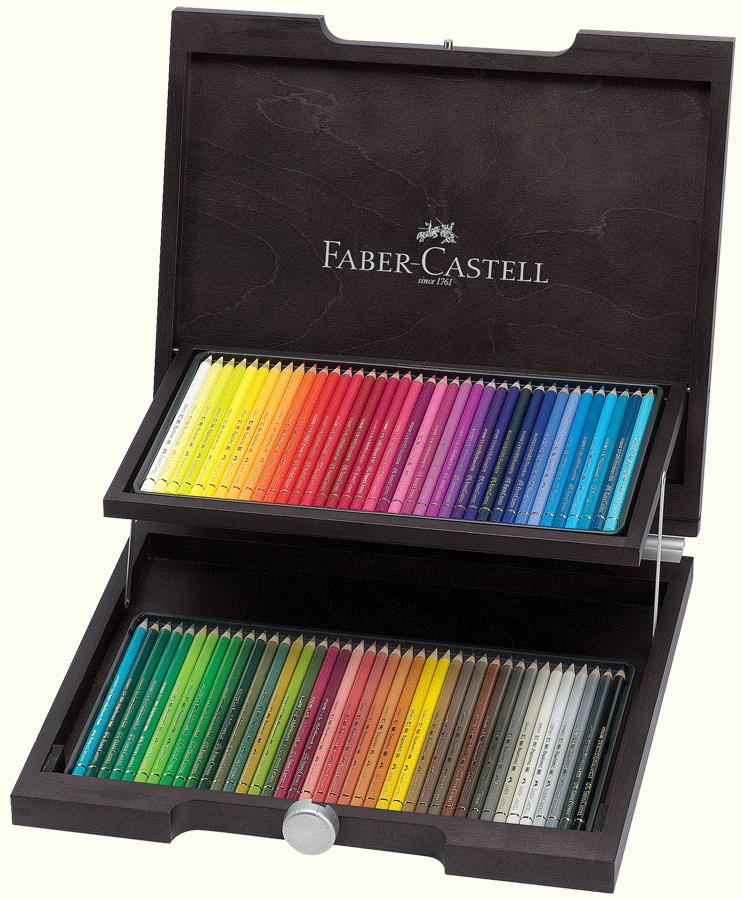 faber castell polychromos artists 39 colored pencil wood. Black Bedroom Furniture Sets. Home Design Ideas