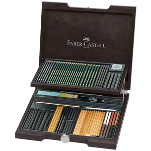 Faber-Castell Pitt Monochrome Artists Woodcase Set Assortment