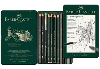 Faber-Castell Pitt Graphite Tin 11 Piece Set