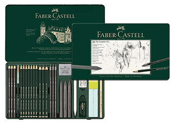 Faber-Castell Pitt Graphite Tin Set of 26