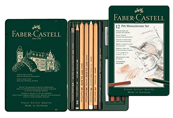 Faber-Castell Pitt Monochrome Tin Set of 12