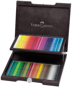 Faber-Castell Albrecht Durer Artists Watercolor Pencil Woodcase Gift Set of 72