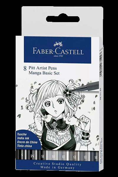 Faber-Castell Pitt Artist Manga Wallet Set of 8