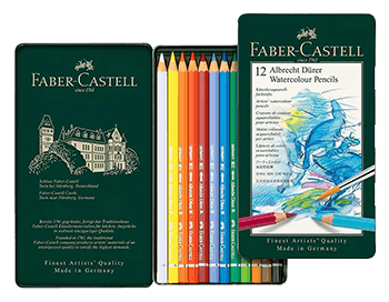 Faber-Castell Albrecht Durer Artists Watercolor Pencil Metal Tin of 12