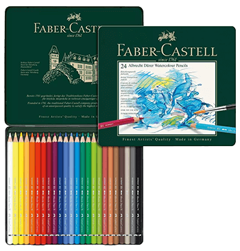 Faber-Castell Albrecht Durer Artists Watercolor Pencil Metal Tin of 24