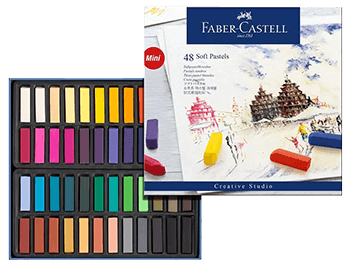Faber-Castell Studio Soft Pastel Cardboard Box of 48 (half length)
