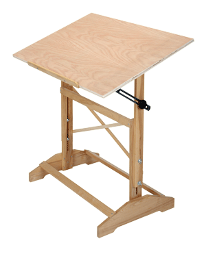 Drafting Pro Table, Unfinished - Size 24 x 36