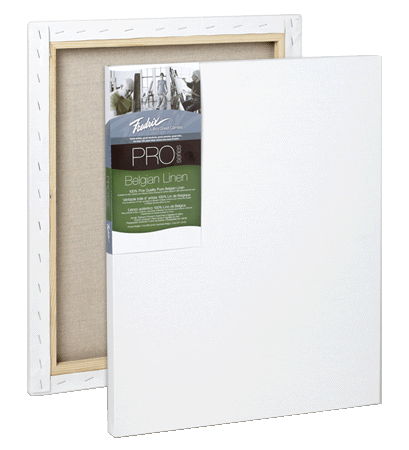 Fredrix PRO Series Linen Stretched Canvas - 7/8 Deep - Size 8 x 10 - Case of 5