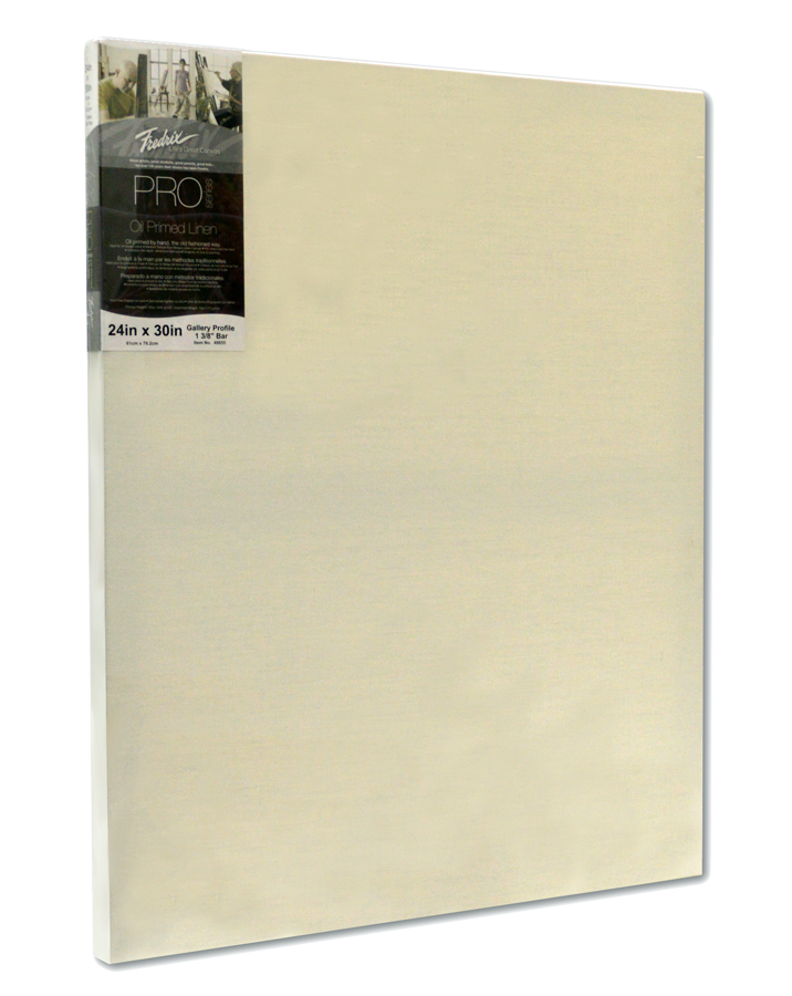 Fredrix Pro Series Oil Primed Linen Stretched Canvas 1 3