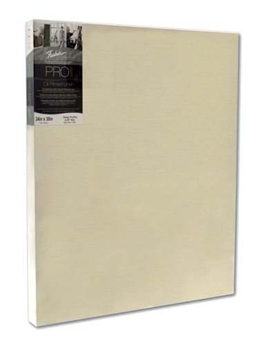 Fredrix PRO Series Oil Primed Linen Stretched Canvas - 7/8 Deep - Size 8 x 10 - Case of 5