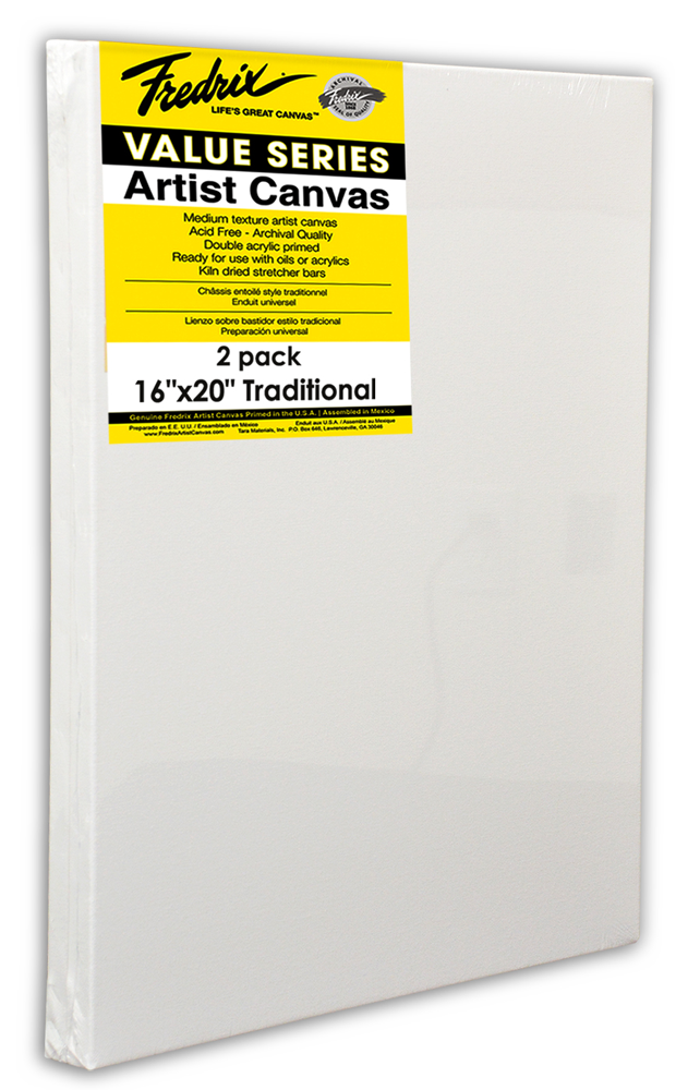 Fredrix Value Series Stretched Canvases   Rex Art Supplies