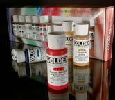 Golden Fluid Acrylic Color Set of 10 - Size 1 oz