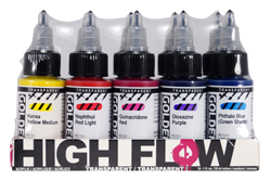 Golden High Flow Acrylic Transparent Set of 10