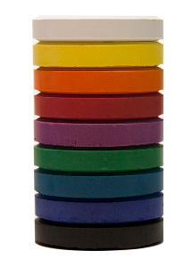 Jack Richeson Mini Tempera Cakes Refill (Set of 9) - Color Assorted