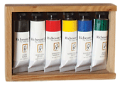 Richeson Oil, The Shiva Series Set of 6 in Wooden Box