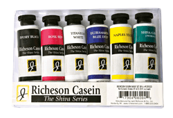 Richeson Casein, The Shiva Series Basic Set of 6 - Size 1.25oz
