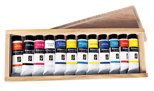 Richeson Casein, The Shiva Series Set of 12 in Wooden Box