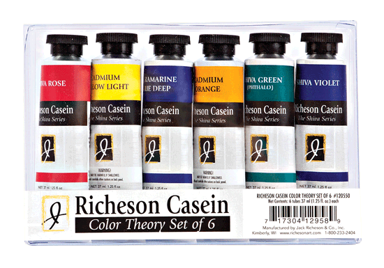 Richeson Casein, The Shiva Series Color Theory Set of 6