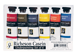 Richeson Casein, The Shiva Series Underpainting Set of 6
