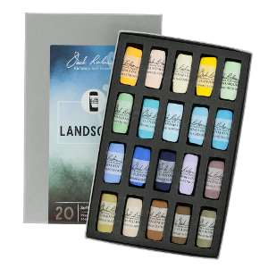 Richeson Soft Handrolled Pastels Set of 20 - Color Landscape