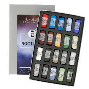 Richeson Soft Handrolled Pastels Set of 20 - Color Nocturne