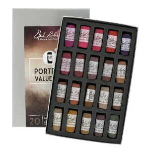 Richeson Soft Handrolled Pastels Set of 20 - Color Portrait Values 1-3