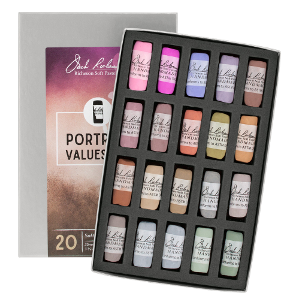 Richeson Soft Handrolled Pastels Set of 20 - Color Portrait Values 4-6