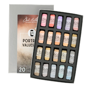 Richeson Soft Handrolled Pastels Set of 20 - Color Portrait Values 6-8