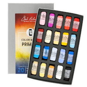 Richeson Soft Handrolled Pastels Set of 20 - Color Color Wheel Primary