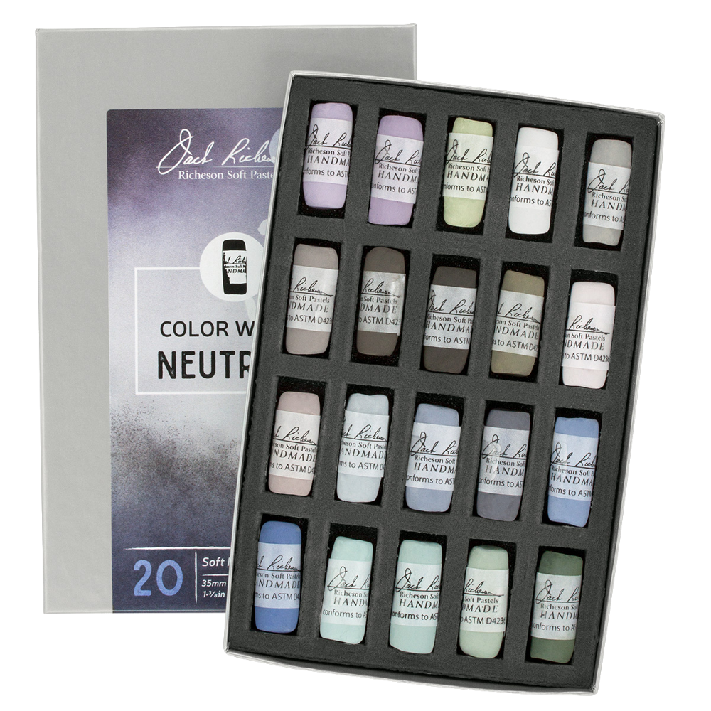 Richeson Soft Handrolled Pastels Set of 20 - Color: Color
