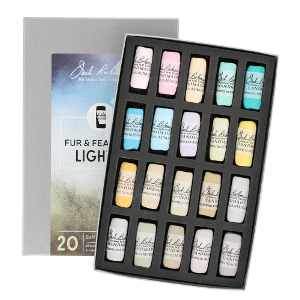 Richeson Soft Handrolled Pastels Set of 20 - Color Fur and Feathers Light 2