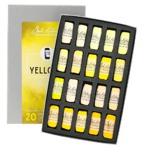 Richeson Soft Handrolled Pastels Set of 20 - Color Yellows