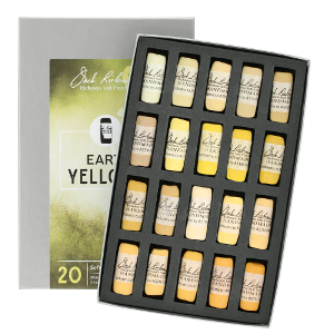 Richeson Soft Handrolled Pastels Set of 20 - Color Earth Yellows