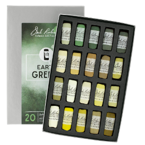 Richeson Soft Handrolled Pastels Set of 20 - Color Earth Greens