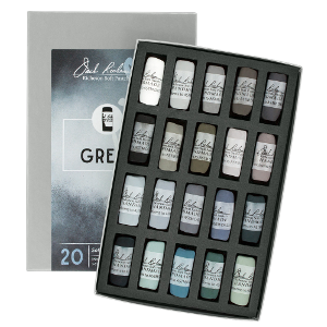 Richeson Soft Handrolled Pastels Set of 20 - Color Greys