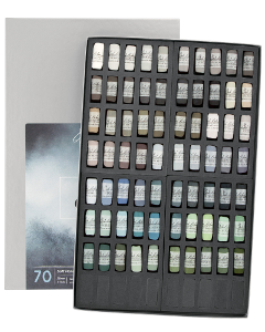 Richeson Soft Handrolled Pastels Set of 70 - Color Greys