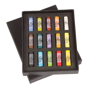 Richeson Medium-Soft Pastels Set of 15 Half Sticks - Color Assorted