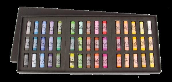 Richeson Medium-Soft Pastels Set of 45 Half Sticks - Color Assorted