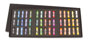 Richeson Medium-Soft Pastels Set of 45 Half Sticks - Color Assorted