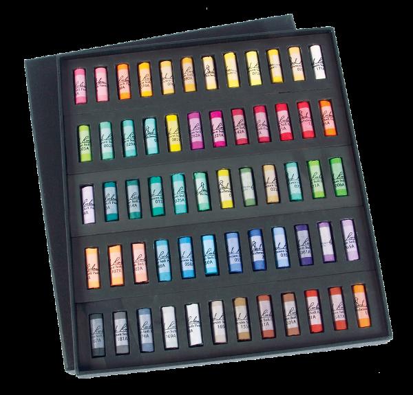 Richeson Medium-Soft Pastels Set of 60 Half Sticks - Color Assorted