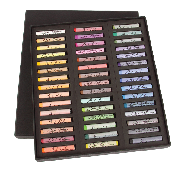 Richeson Medium-Soft Pastels Set of 45 Full Sticks - Color Assorted