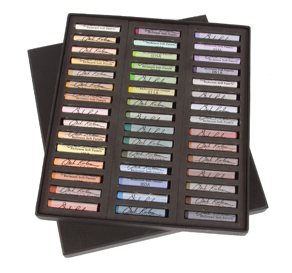 Richeson Medium-Soft Pastels Set of 45 Full Sticks - Color Landscape
